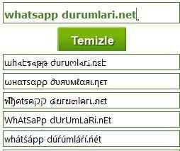 Whatsapp şekilli nick yazma